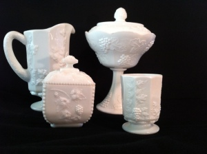Samples of Milk Glass